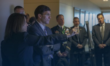 Lora-Weiss-show-the-Honorable-Mark-Esper-GTRI-Headquarters